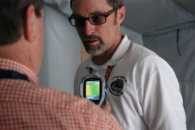 NSWC PCD engineers uses tool to determine heat levels