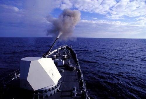 Oto Melara 127/64 LW Alleggerito lightweight naval guns