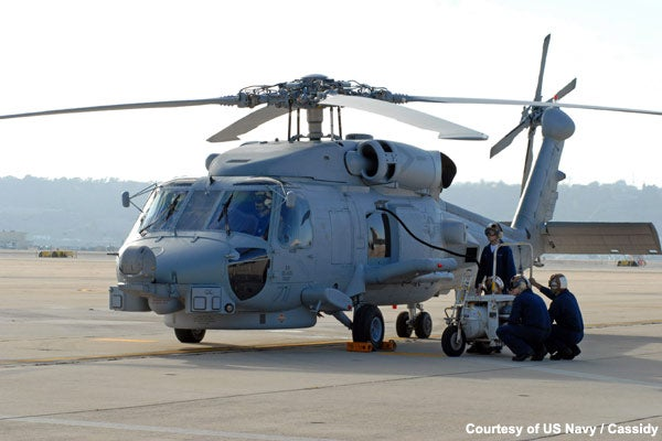 US Navy's MH-60R helicopter