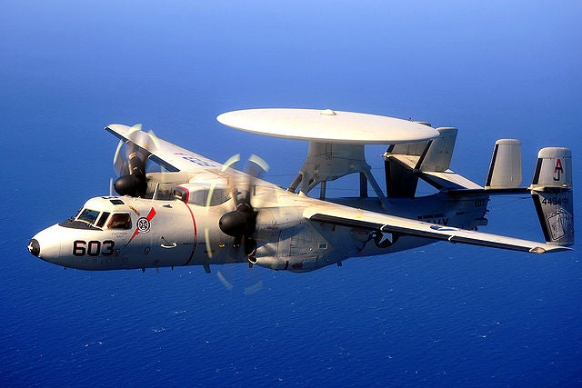 US Navy's E-2C Hawkeye 2000 airborne early warning & command (AEW&C) aircraft.