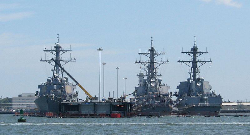 US Navy Arleigh Burke Class destroyers