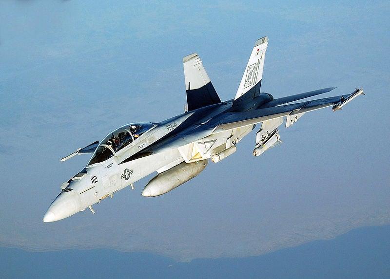 A US Navy's F/A-18F Super Hornet aircraft