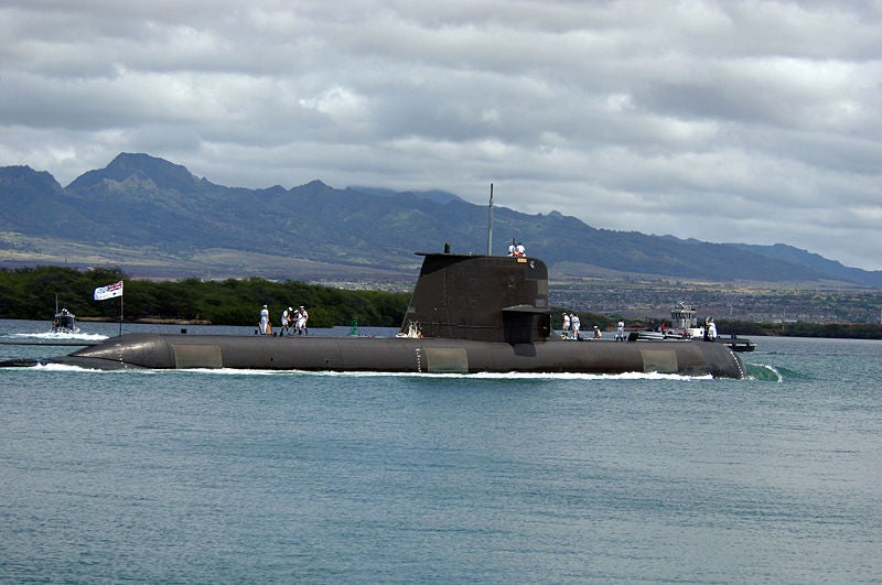 Australian navy's Collins-class submarine, HMAS Waller (SSG 75)