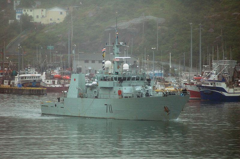 Royal Canadian Navy's Kingston-class HMCS Summerside Vessel