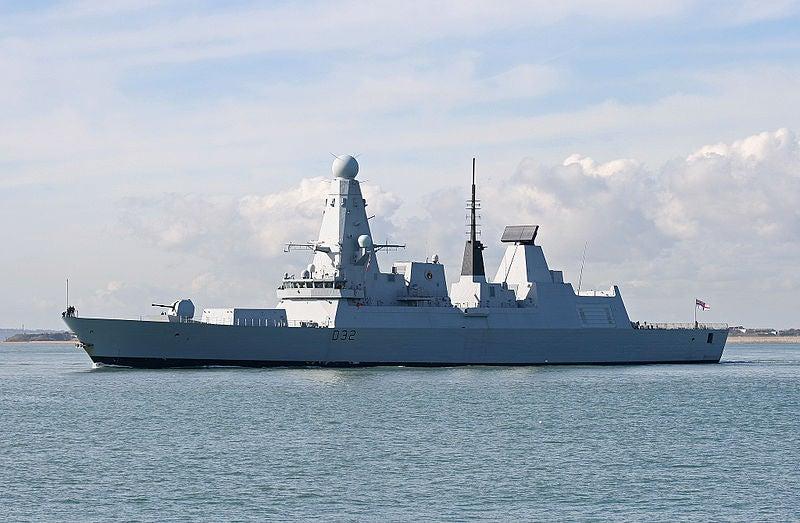 Royal Navy's Type 45 destroyer, HMS Daring (D32)