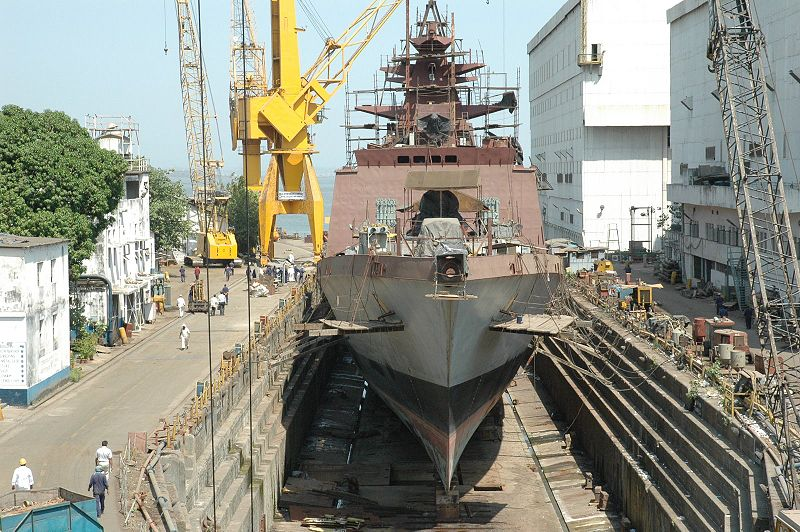 Indian Navy's third Project 17 stealth frigate, Sahyadri