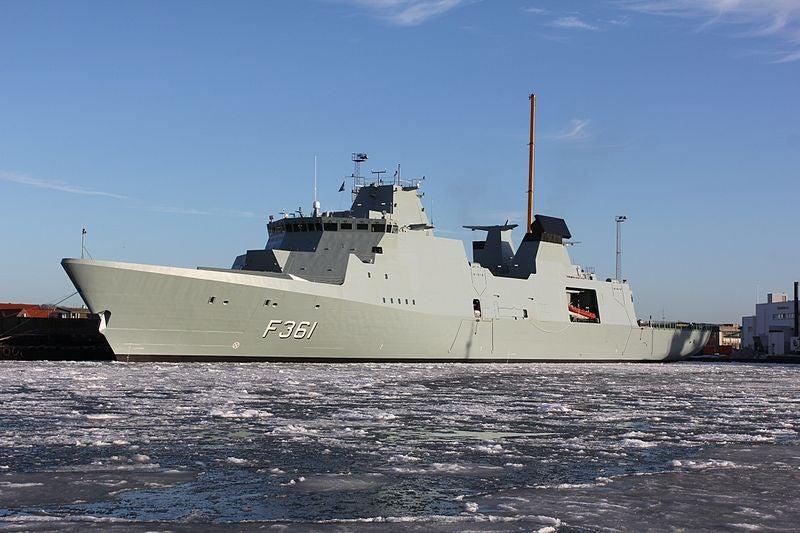 Royal Danish Navy's Iver Huitfeldt (F361) frigate