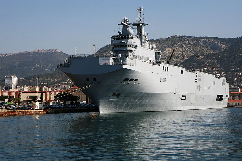 French Navy's Command and Projection Ship Mistral