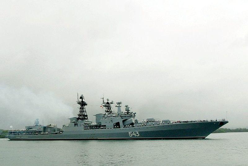 Russia's Udaloy-class destroyer Marshal Shaposhnikov