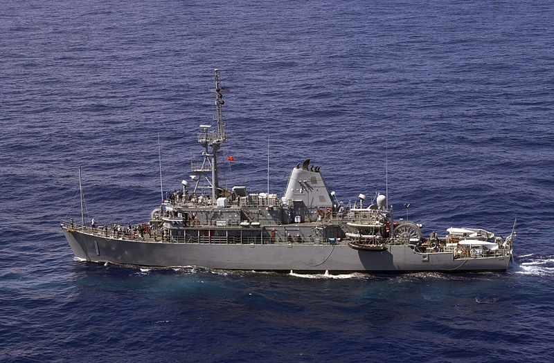 US Navy Avenger-class mine countermeasures vessels.