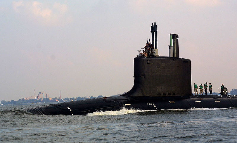 The US Navy's nuclear-powered attack submarine, PCU Virginia (SSN 774),
