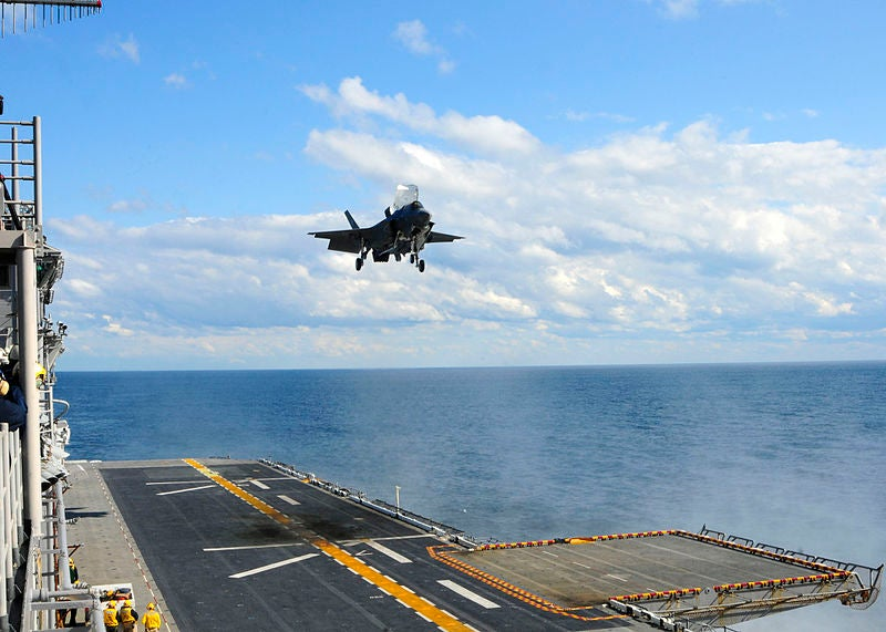Lockheed Martin-built F-35B short take-off/vertical landing (STOVL) aircraft