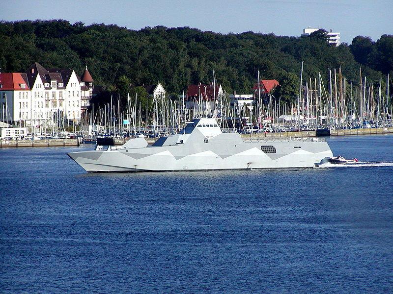Swedish Navy's first Visby-class corvette HMS Visby