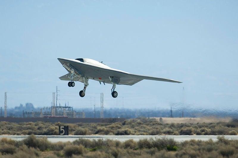 X-47B unmanned air vehicle (UAV)