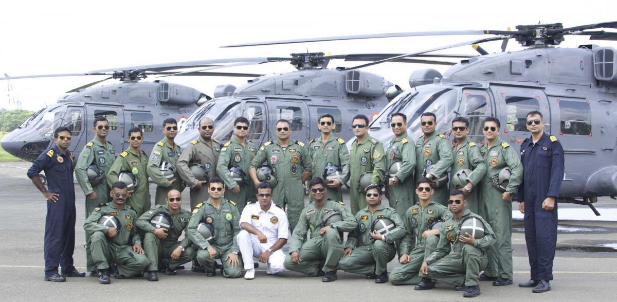Indian Navy's first Squadron of Advanced Light Helicopters