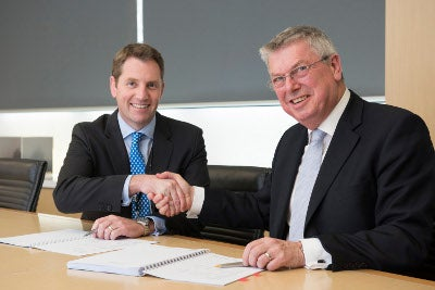 ASC Managing Director and Chief Executive Officer Steve Ludlam and Saab Managing Director, Dean Rosenfield signs the contract