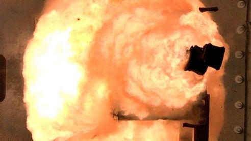 BAE-built EM railgun launcher