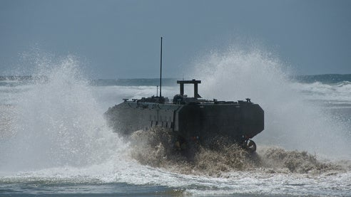 US Marine Corps' (USMC) Marine Personnel Carrier