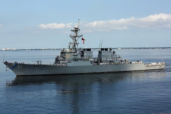 US Navy's DDG 51 class shp at sea