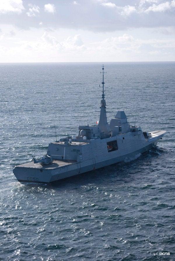 The French FREMM frigate, Aquitaine