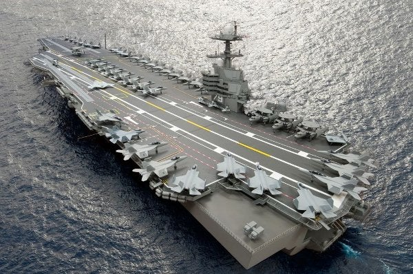 USS John F. Kennedy aircraft carrier.
