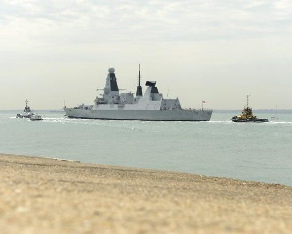HMS Duncan at sea.