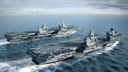 An artist's impression of the HMS Queen Elizabeth and HMS Prince of Wales