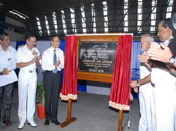 unveiling of plaque to mark induction of HAL produced Hawks