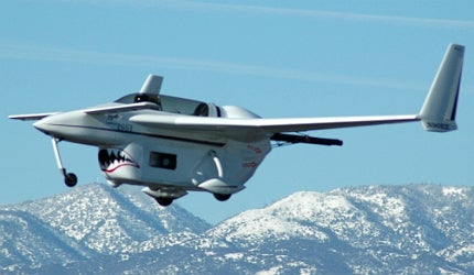 Long E-Z aircraft on its historic 2008 flight