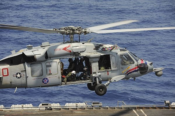 An MH-60S Sea Hawk helicopter