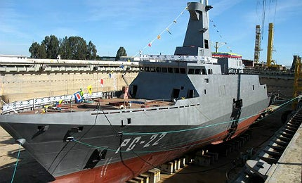 The ships were built at Navantia's Puerto Real shipyard in Spain