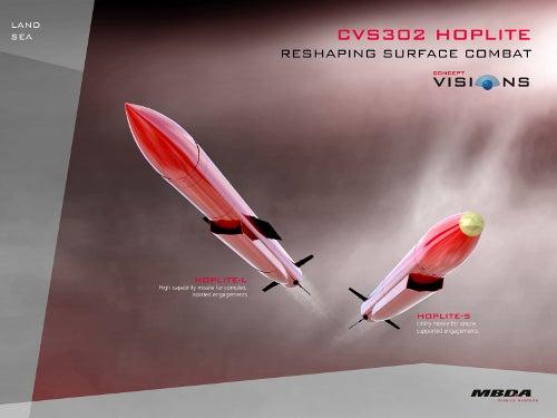 MBDA-built CVS302 Hoplite missiles