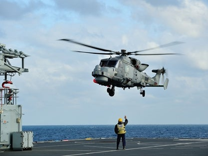 Wildcat lands on RFA Argus