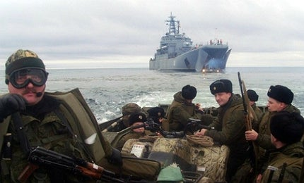 Russian naval exercise