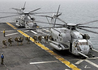 USMC's CH-53E helicopters