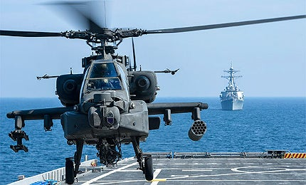 USS Ponce helicopters LaWS