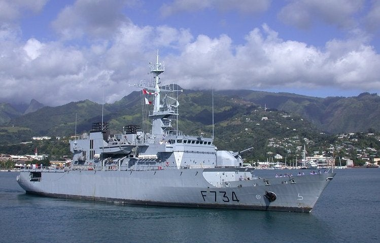 French Navy's Floreal-class surveillance frigate