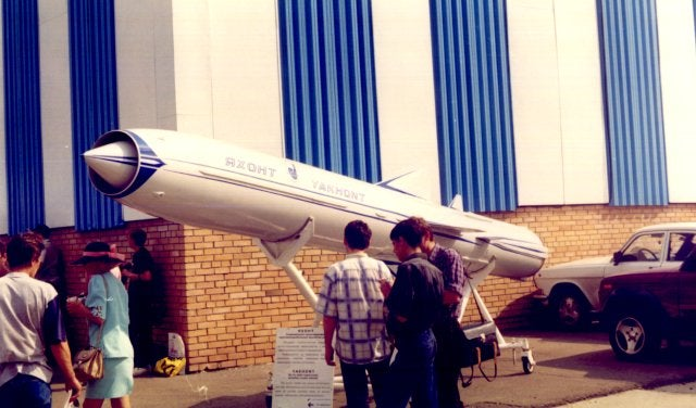 Yakhont missile being displayed