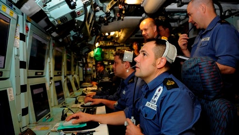 crew performing battlespace command and control function