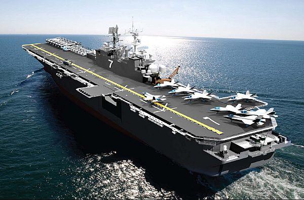 An artist rendering of USS Tripoli (LHA 7