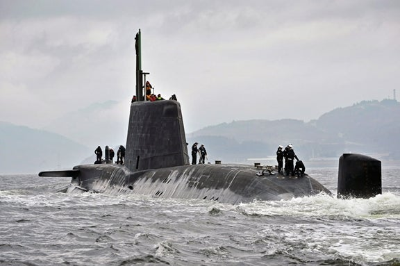 UK Royal Navy's nuclear-powered submarine, HMS Astute