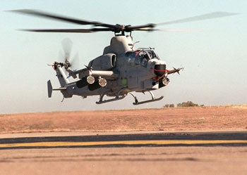 AH-1Z Cobra attack helicopter.
