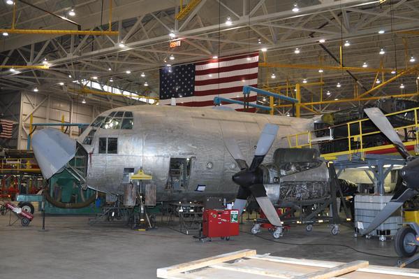 KC-130R aircraft undergoing regeneration