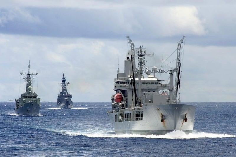 HMAS Darwin ship, JDS Shimakaze and HMNZS Endeavour