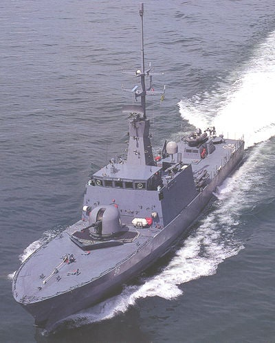 Singapore Navy's Fearless-class patrol vessel