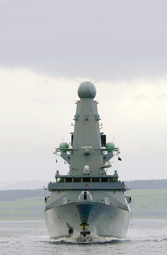 UK Royal Navy's fifth Type 45 destroyer HMS Defender (D36)