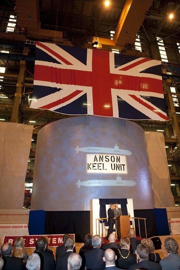 Royal Navy's fifth Astute-class submarine, HMS Anson (S123)