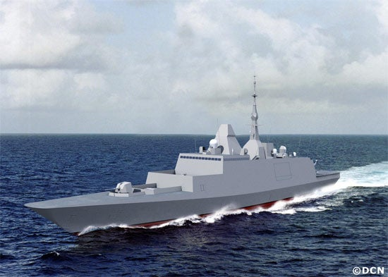 Illustration of FREMM frigate