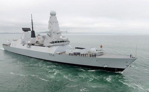 UK Navy's Type 45 destroyer HMS Diamond