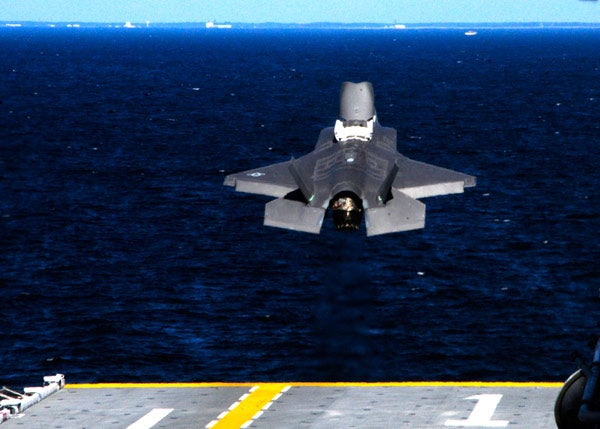 F-35B takes off from the USS Wasp